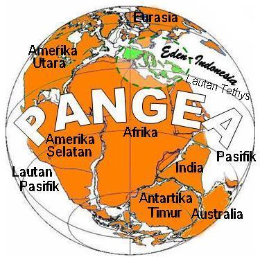 Benua Pangea pada 250 juta tahun lalu